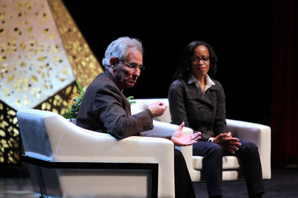 Photo of Jon Kabat Zinn and Rhonda Magee